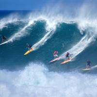Waimea Bay Surfers Art Prints & Posters by Kevin W. Smith