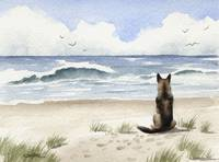 German Shepherd at the Beach