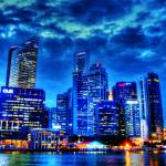 """Cityscape Singapore 2013 Series - City in Blue"" by sghomedeco"