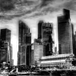 """City in Black/white - Urban landscape Singapore"" by sghomedeco"