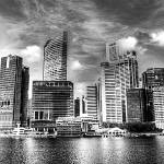 """Urban Landscape Singapore 2013 Series Balck/white"" by sghomedeco"