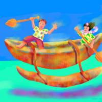 """Flying Koa Canoe"" by Michael Ives"
