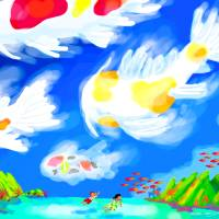 Koi Clouds Art Prints & Posters by Michael Ives