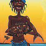 """Islandman Big Catch"" by vernsart"