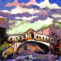 Venice Rialto Bridge Modern Decorative Art