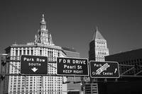 New York City with Traffic Signs