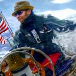 """man at helm 3 flag"" by ArtbySachse"