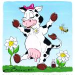 """Daisy is a Happy Cow"" by BarbaraPelizzoli"