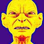 """Gollum, alias in The Lord of the Rings: Two Towers"" by ArtCinemaGallery"