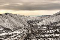 Glenwood Springs Canyon in Winter