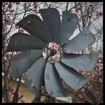 """Windmill and peach blossoms"" by Melani"