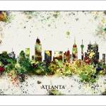 """Atlanta"" by WaterColorMaps"