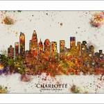 """Charlotte NC color set 6"" by WaterColorMaps"
