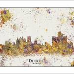 """Detroit"" by WaterColorMaps"