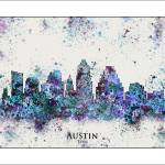 """Austin Tx"" by WaterColorMaps"