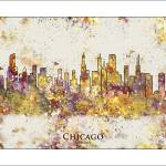 """chicago"" by WaterColorMaps"