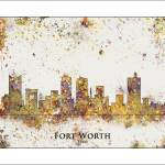 """fort worth"" by WaterColorMaps"