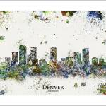 """Denver col"" by WaterColorMaps"