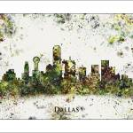 """Dallas tx"" by WaterColorMaps"