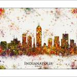 """Indianapolis"" by WaterColorMaps"