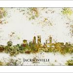 """jacksonville fl"" by WaterColorMaps"
