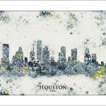 """Houston tx"" by WaterColorMaps"