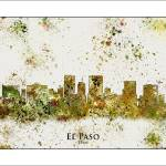 """El Paso Tx"" by WaterColorMaps"