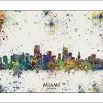 """Miami"" by WaterColorMaps"