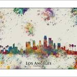 """Los angeles"" by WaterColorMaps"