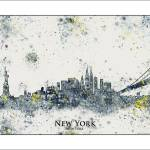 """new york"" by WaterColorMaps"