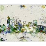 """memphis Tn"" by WaterColorMaps"
