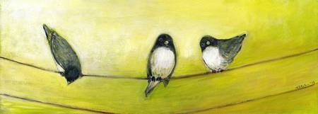 Three Birds on a Wire No 2