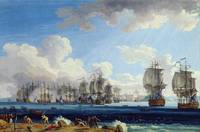 The Battle of Chesma on the 5th July 1770