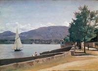 The Quai des Paquis, Geneva, c.1842 (oil on canvas