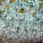 """Ceiling Of Dollar Bills"" by lightningman"