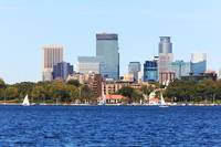Minneapolis Skyline over Lake Calhoun V