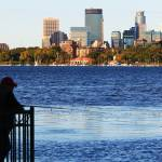 """Minneapolis skyline over lake calhoun"" by WaynePhotoGuy"