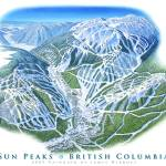 """Sun Peaks Ski Resort, British Columbia"" by jamesniehuesmaps"