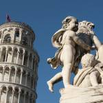 """Statue and Leaning Tower of Pisa, Italy"" by petrsvarc"
