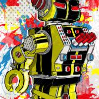 21st Century Schizoid Bot Art Prints & Posters by Todd Bane