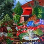"""Hillside Garden"" by BrendaSalyersArt"