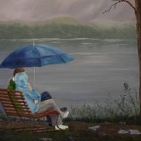 Enjoying the Rain Art Prints & Posters by Kathryn Bartscht