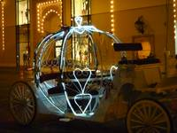 Lighted pumpkin coach