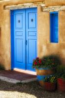 Blue Door and Adobe