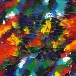 """Multicolor Mixup Abstract"" by PjCreates"