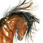 """Winds of Change Spirit Horse"" by AmyLynBihrle"
