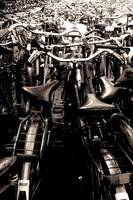 Sea of bikes B&W