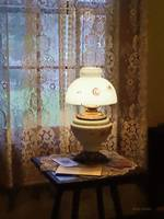 Parlor With Hurricane Lamp