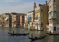Gondolas and Palaces, Grand Canal, Venice, Italy