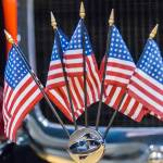 """five mini american flags"" by digidreamgrafix"